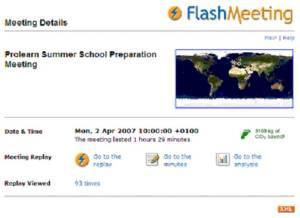 Flashmeeting screenshot