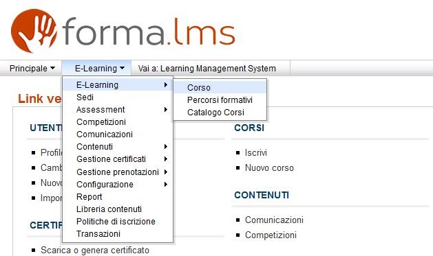 Forma Lms: Come creare un corso (2/6)