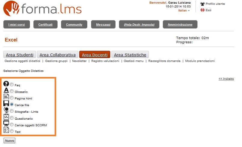 Forma Lms: Come inserire i materiali didattici in un corso (4/6)